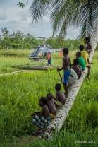 Landing on the swamp always draws a crowd. Courtesy of Gerald Bengessar.